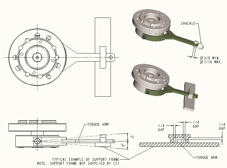elbrons anti rotation device